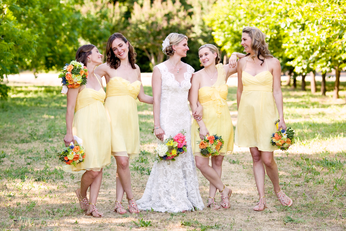 Flowers & Decor, Bridesmaids, Bridesmaids Dresses, Fashion, yellow, Vineyard, Party, Bridal, Jessica michael