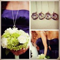 Jewelry, Bridesmaids, Bridesmaids Dresses, Fashion, white, purple, silver, Gifts, Bridesmaid, Unique, Personalized, Origami, Owl, Lockets