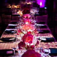 Flowers & Decor, pink, Flowers, Wedding reception, Jennifer jamie, Silver table cloth, Four seasons wedding