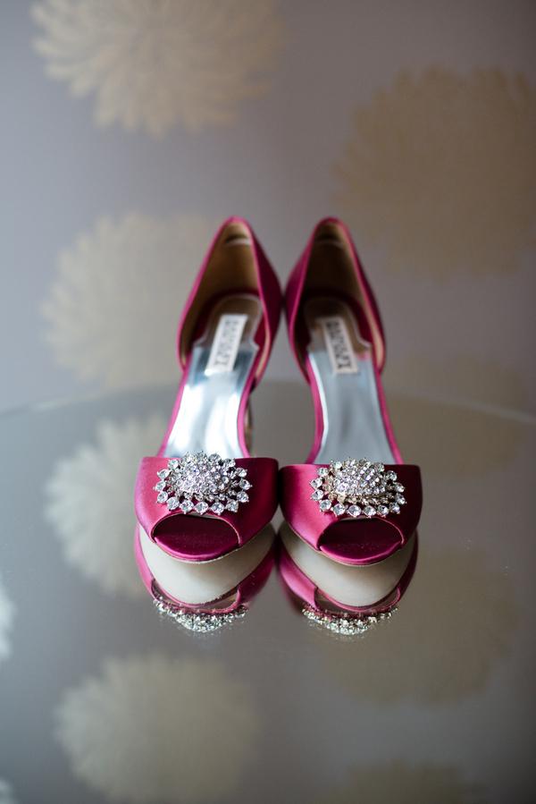 pink, Bridal shoes, Peep-toe, Jennifer jamie, Badgley mishka