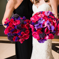 Flowers & Decor, Bridesmaids, Bridesmaids Dresses, Fashion, pink, purple, Bride Bouquets, Bridesmaid Bouquets, Flowers, Bouquet, Jennifer jamie, Flower Wedding Dresses