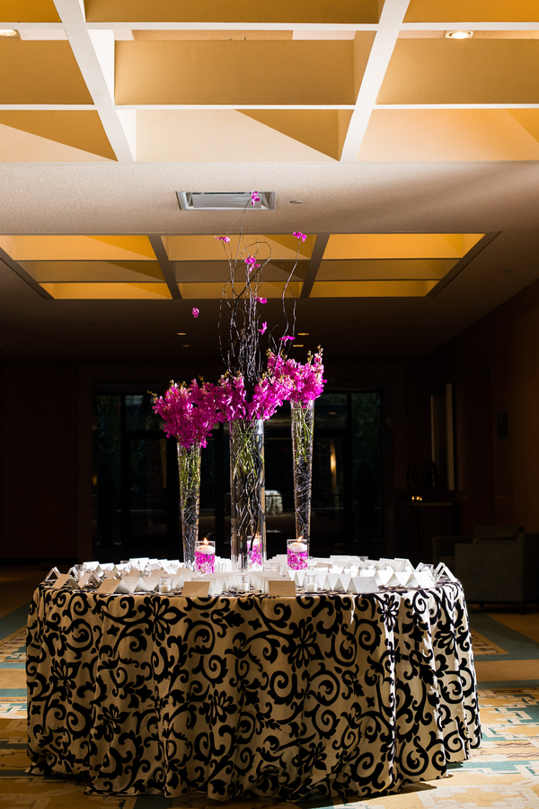 Reception, Flowers & Decor, pink, Flowers, Jennifer jamie, Ballroom reception, Table linen