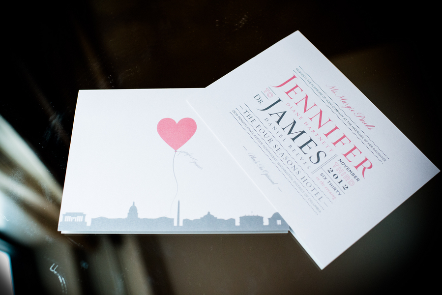 Stationery, invitation, Invitations, Dc, Jennifer jamie, Heart balloon