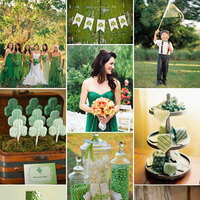 Ceremony, Reception, Flowers & Decor, white, green, silver, gold, Inspiration board, Ireland, Irish, Emerald, St patricks