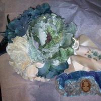 DIY, Flowers & Decor, Jewelry, white, blue, green, silver, gold, Bride Bouquets, Flowers, Bouquet, Garter, Inspiration board