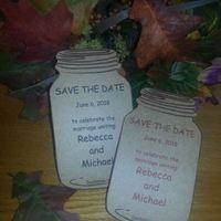 Ceremony, Flowers & Decor, Stationery, brown, Rustic, Invitations, Rustic Wedding Flowers & Decor, Wedding, The, Save, Date, Invite, Personalized, Jar, Mason, Krafts