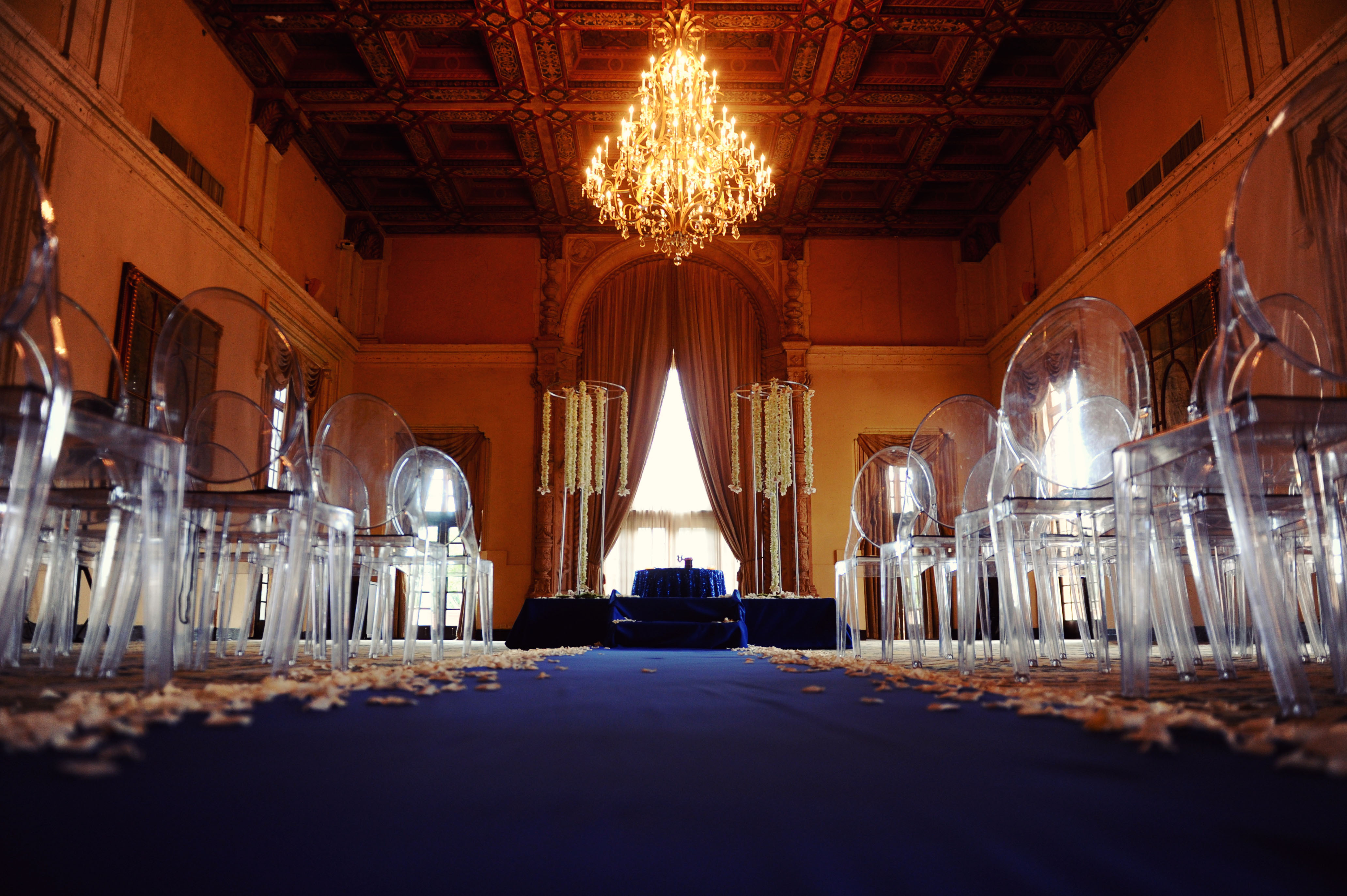 Ceremony, Flowers & Decor, Tables & Seating, Wedding, Chairs, Chandelier, Ballroom, Clear, Persephone eddie, Ghost chairs