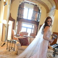 Veils, Fashion, Veil, Train, Long, Pnina, Pnina tornai, Persephone eddie, Pink wedding dress