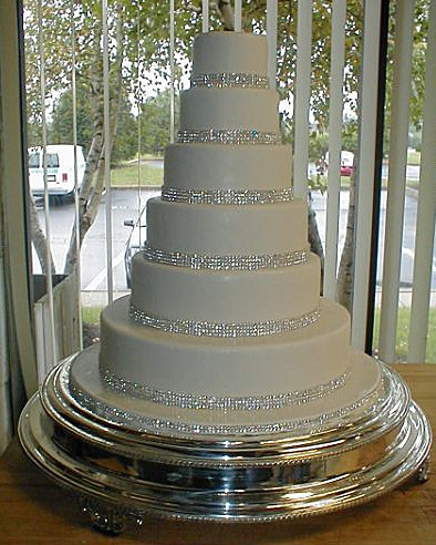 Cakes, white, cake, Rhinestones