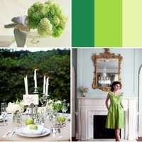 white, yellow, green, silver, Inspiration board