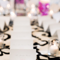 Stationery, Escort Cards, Black and white, Graphic, Jennifer jamie, Table linen