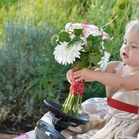 Flowers & Decor, yellow, red, Flowers, Flower, Girl