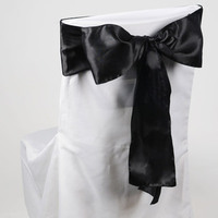 Reception, Flowers & Decor, black, Chair, Sash