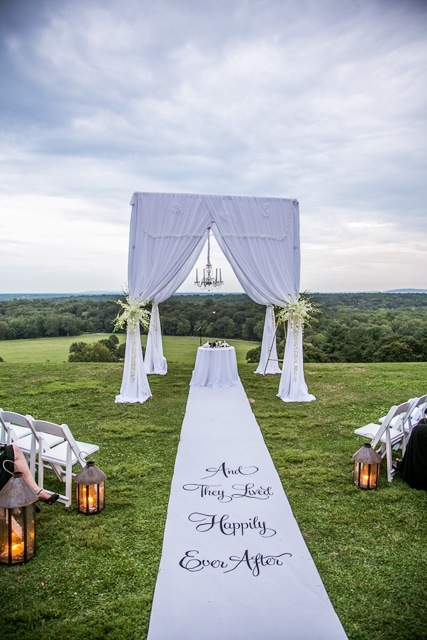 Happily ever after, Outdoor wedding, Chuppa, Lanters, Marisa harris, White carpet