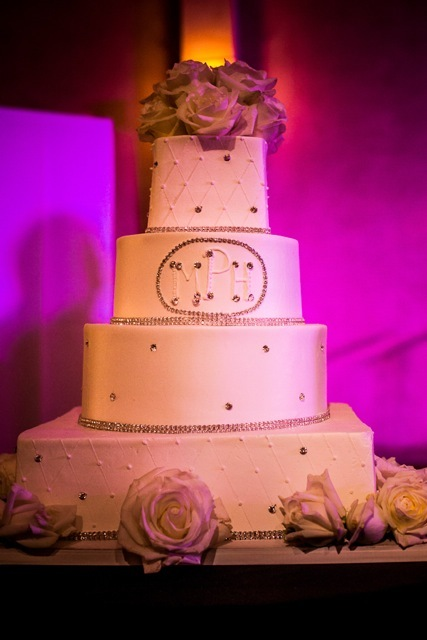 Cakes, cake, Monogrammed Wedding Cakes, Monogram, Wedding, Marisa harris, Rainbow wedding cake