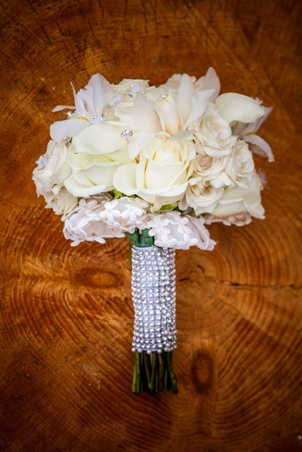 Flowers & Decor, white, Flowers, Wedding, Sparkle, White bouquet, Marisa harris