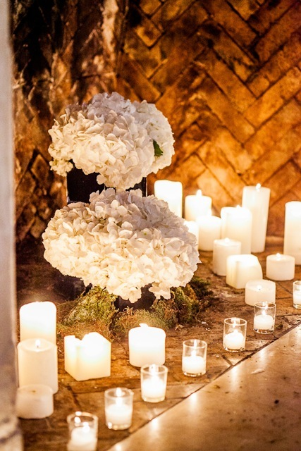 Candles, Wedding decor, Marisa harris, White wedding decor, White wedding flowers