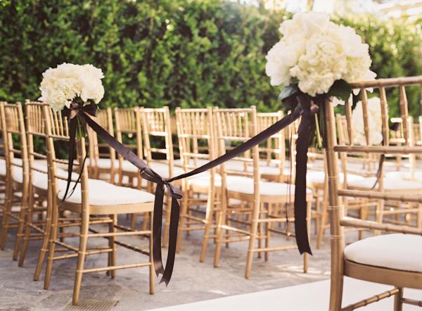 Outdoor ceremony, Outdoor wedding, White bouquet, Elisha david, Brown ribbon