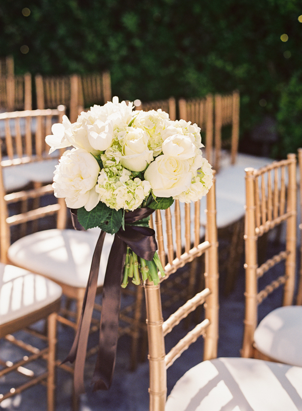 Outdoor wedding, White bouquet, Elisha david, Gold chair