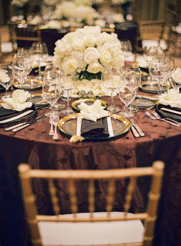 Reception, Flowers & Decor, Wedding, White flowers, Elisha david, Gold chairs, Brown wedding decor