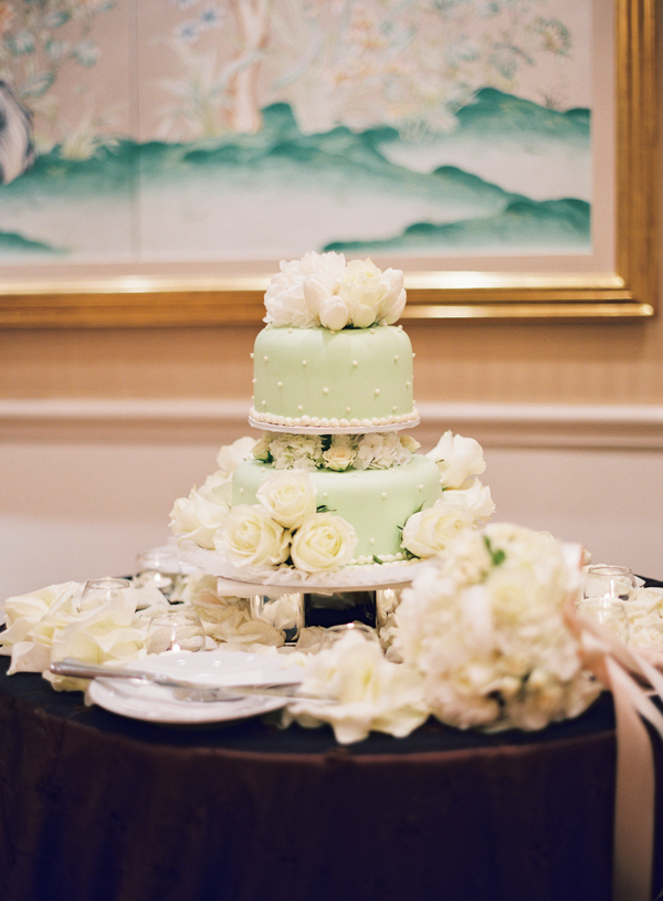 Cakes, cake, Wedding, White flowers, Green cake, Elisha david, Mint green wedding cake