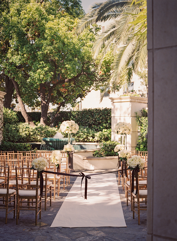 Outdoor ceremony, Outdoor wedding, Elisha david, Peninsula beverly hills, Gold chairs