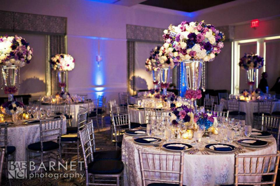 Reception, Flowers & Decor, pink, purple