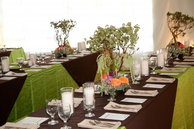 Flowers & Decor, purple, green, brown, Centerpieces, Flowers