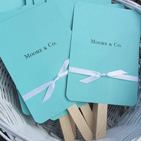 Ceremony, Reception, Flowers & Decor, Favors & Gifts, blue, Favors, Wedding, Fans, Tiffany