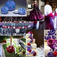Ceremony, Reception, Flowers & Decor, Favors & Gifts, Wedding Dresses, Fashion, red, purple, dress, Favors, Ceremony Flowers, Flowers, Inspiration board, Flower Wedding Dresses