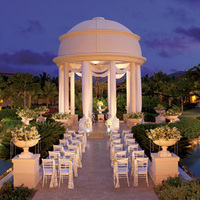 Ceremony, Flowers & Decor, Destinations, blue, gold, Outdoor, Wedding, Site, Destination, Punta, Cana, Columns