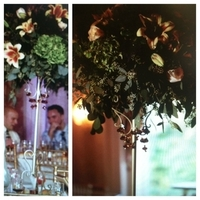 Reception, Flowers & Decor, Centerpieces, Flowers, Centerpiece, Crystals