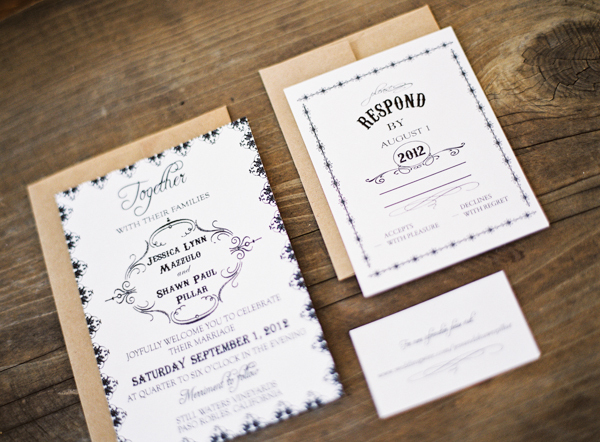 Vintage, Rustic, Paper goods, Jessica shawn