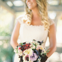 purple, blue, bridal bouquet, Garnet, Jessica shawn