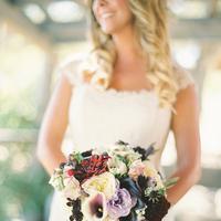purple, blue, bridal bouquet, Garnet, Jessica shawn