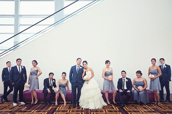 Modern, Wedding party, Grey, Hotel, Navy, Susan sean