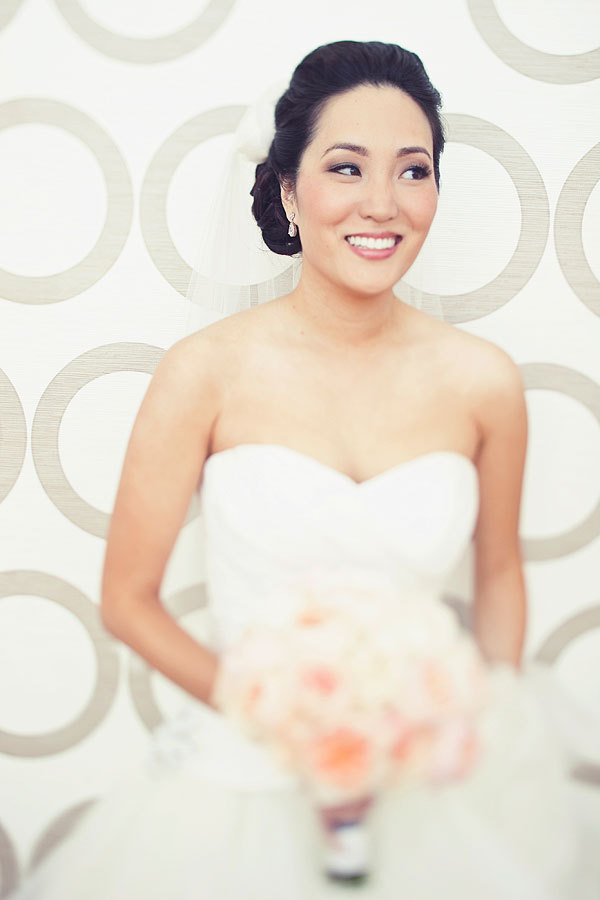 Modern, Bride, Bouquet, Peach, Susan sean