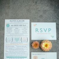Stationery, orange, invitation, Invitations, Story, Love, Mint, Graphic, Katie jacob