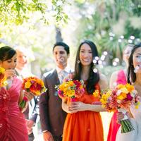 orange, Wedding, Aisle, Katie jacob, Bubles