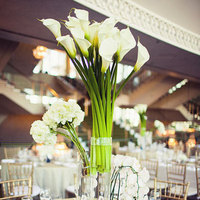 Reception, Flowers & Decor, ivory, green, Centerpieces, Modern, Centerpiece, Grey, Hotel, Contemporary, Lillies, Décor, Susan sean