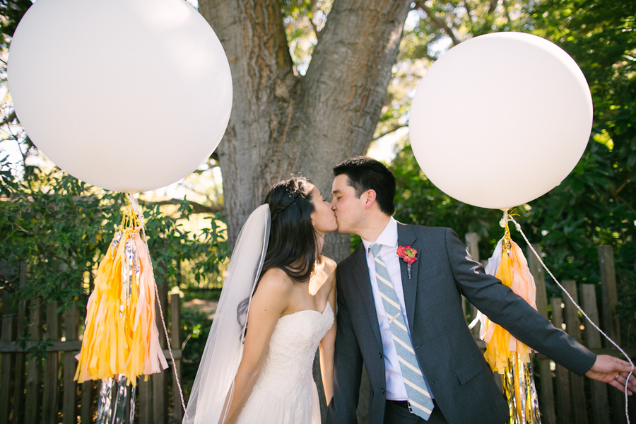 Bride, Groom, Kiss, Balloon, Ballon, Katie jacob, Geronimo