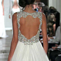 "Wedding Dresses, Fashion, white, silver, dress, Wedding, Bridal, ""jenny, Packham"