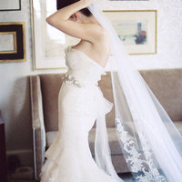 Veils, Fashion, Mermaid, Veil, Gown, Wedding, Vera, Wang, Skirt, Fitted, Meagan david