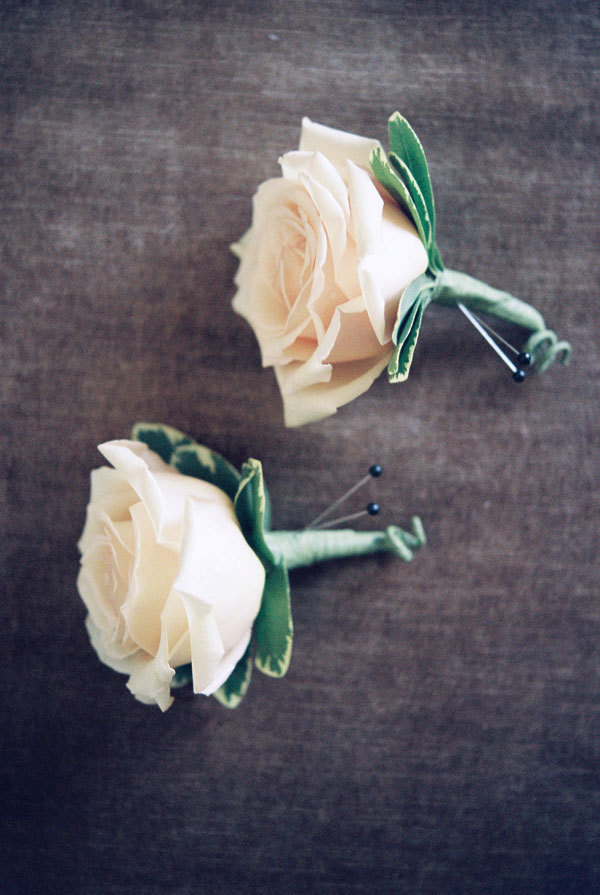 green, Grey, Rose, Boutonniere, Meagan david