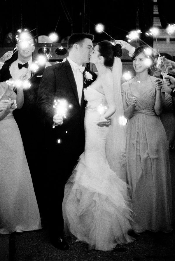 Bride, Groom, Sparklers, Send-off, Meagan david
