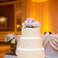 Cakes, white, pink, cake, Wedding, Lace, Rose, Ganache, Piping, Meagan david