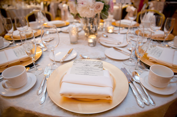 Reception, Flowers & Decor, Decor, silver, gold, Vintage, Romantic, Table, Setting, Meagan david