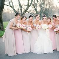 Bridesmaids, Bridesmaids Dresses, Fashion, ivory, pink, Champagne, Light, Neutral, Taupe, Blush, Meagan david