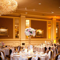 Reception, Flowers & Decor, Decor, pink, gold, Romantic, Rose, Ballroom, Light, Meagan david