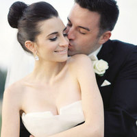 white, black, Bride, Groom, Kiss, And, Bun, Ballerina, Meagan david
